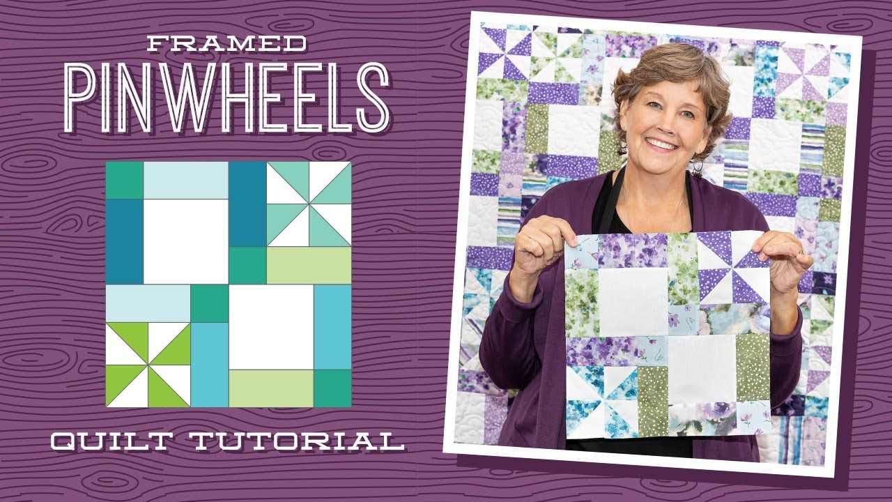 Layer Cale And Charm Pack Make A Framed Pinwheel Quilt With Jenny Doan Of Missouri Star In 2020 Pinwheel Quilt Missouri Star Quilt Company Pinwheel Quilt Pattern