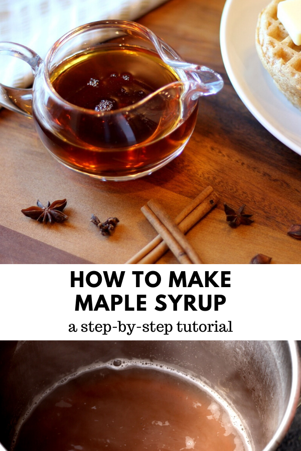 How To Make Maple Syrup Homemade Maple Syrup Maple Syrup Syrup