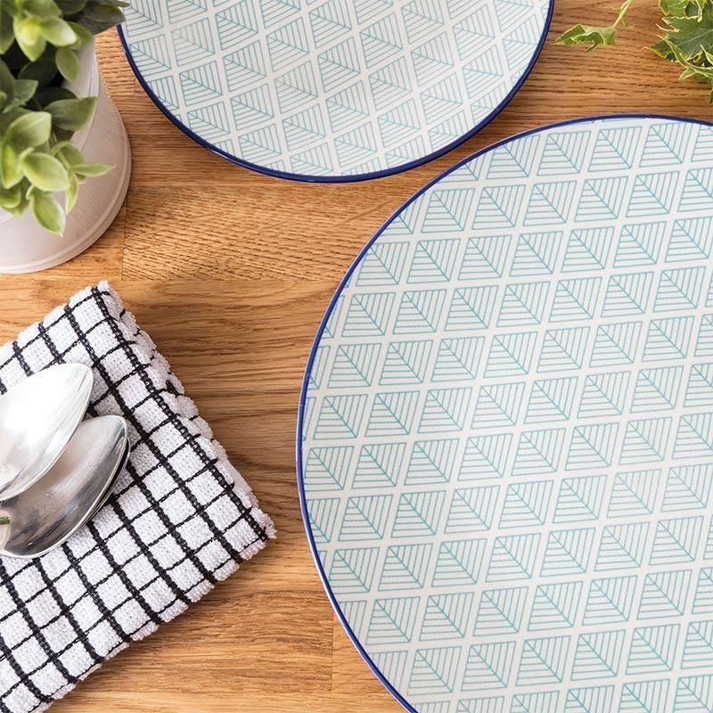 Nicola Spring Patterned Dinner Plate - Light Blue Aztec - 265mm Nicola Spring Plates  sc 1 st  Pinterest & Nicola Spring Patterned Dinner Plate - Light Blue Aztec - 265mm ...
