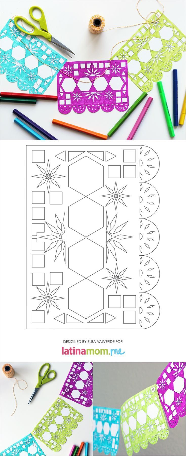 photograph about Papel Picado Templates Printable named Working day of the Lifeless Printable Papel Picado No cost Printables