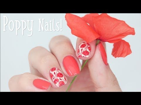 Poppy Nail Art Using Plate Bm Xl216 By Bundle Monster