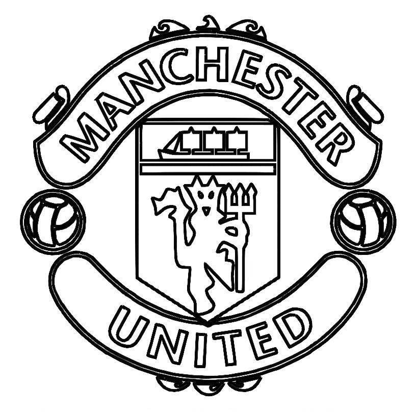 Print Manchester United Logo Soccer Coloring Pages Or Download