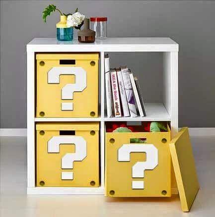 Merveilleux Mario Question Box Cubbies   Geek Home Decor