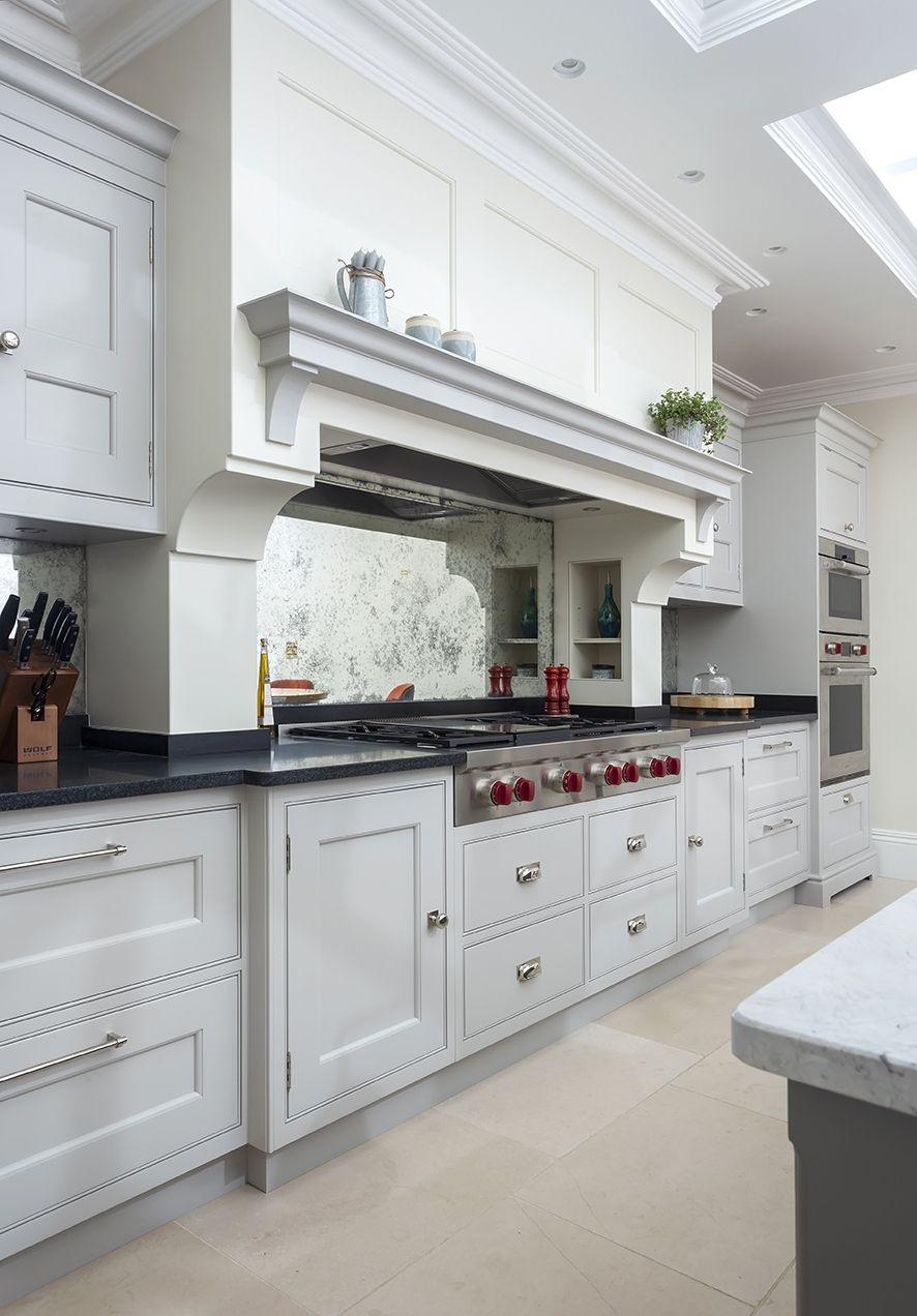 Farnham | Kitchen chimney, Antique mirror splashback ...
