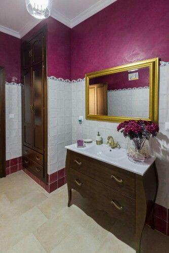 Mueble de baño isabelino de dos cajones con cierre suave ...