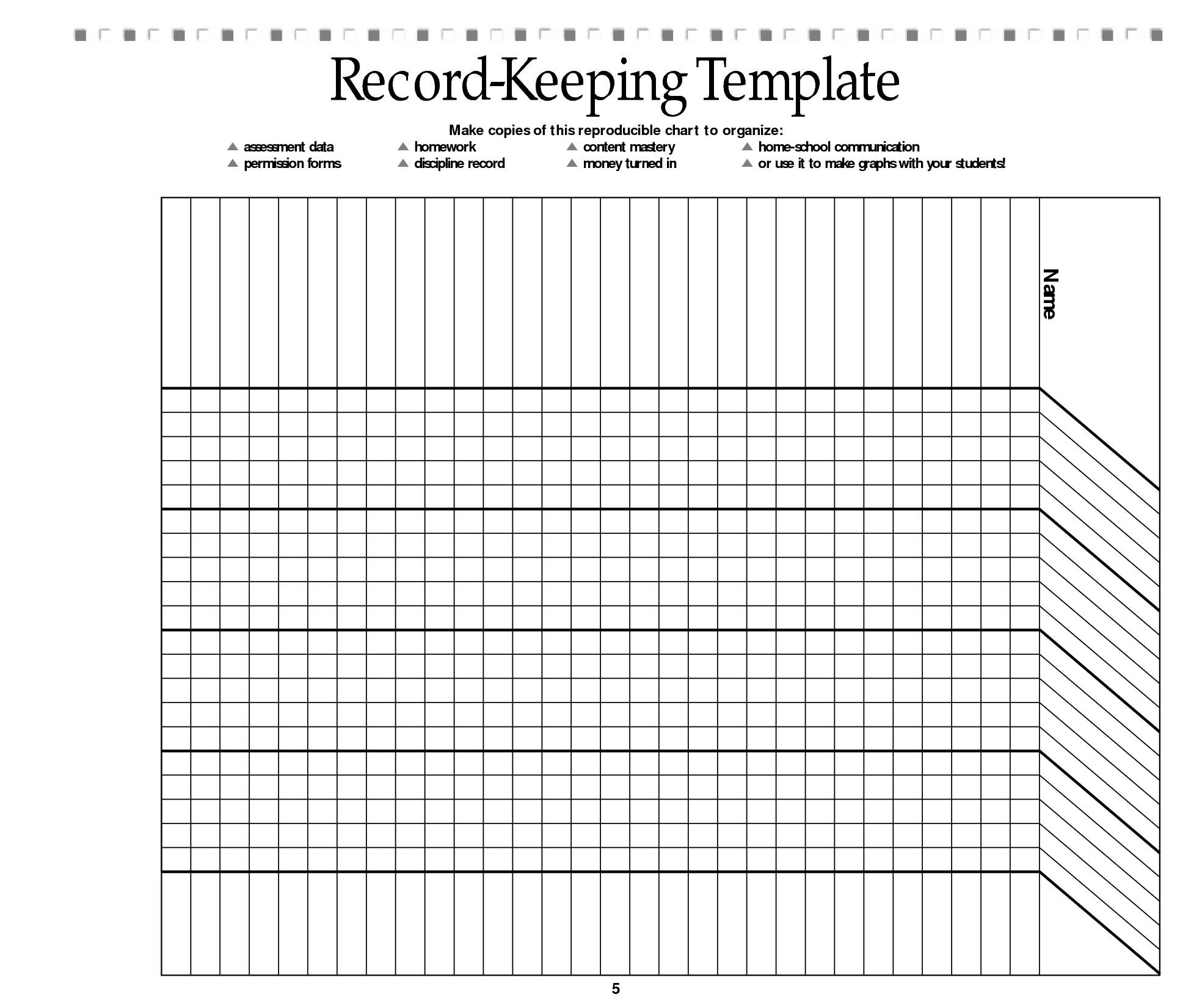 Free Printable Record Keeping Forms