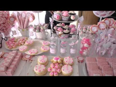 Decoracion bautismo antonella di pietro youtube for Mesa de dulces para baby shower nino