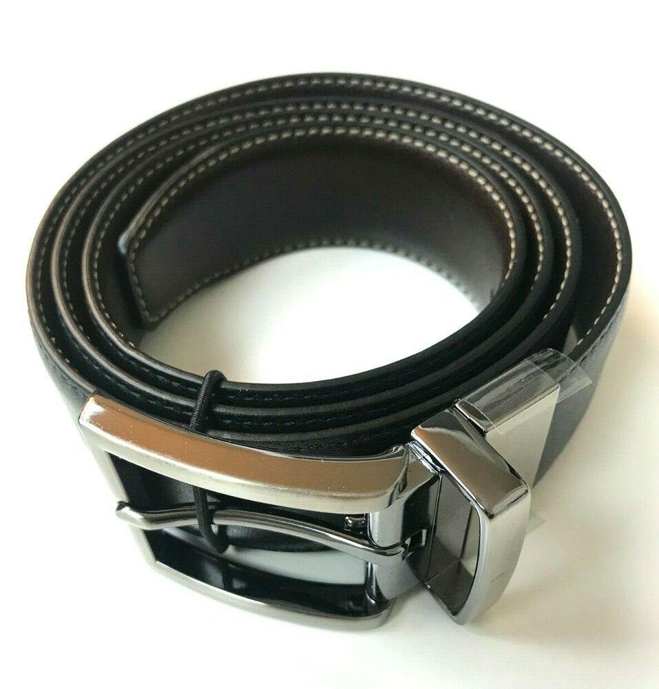 KIRKLAND SIGNATURE BROWN//BLACK Reversible ITALIAN LEATHER BELT Pant Size 34