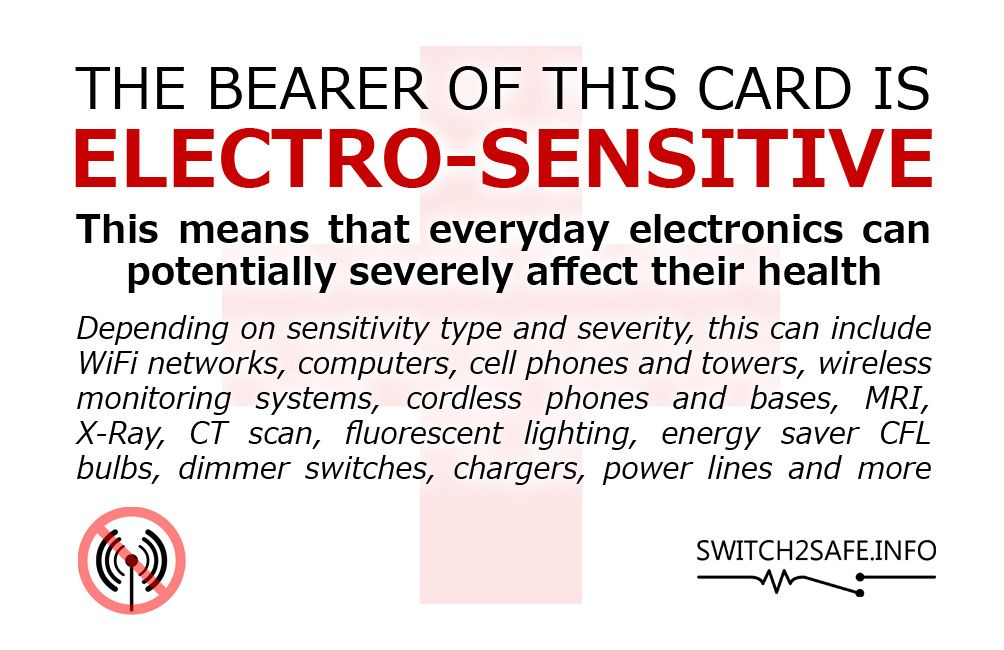 Electrosensitivity: symptoms caused by exposure to electromagnetic ...