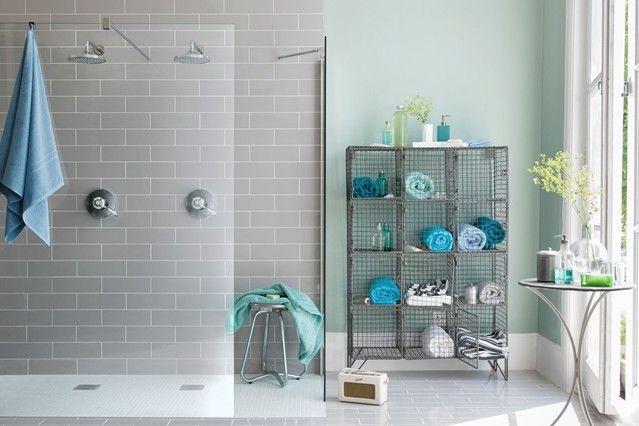 Gris Blanco Con Detalles Azules Y Verdes Aqua Bathroom Bathroom Color Schemes Bathroom Ideas Uk