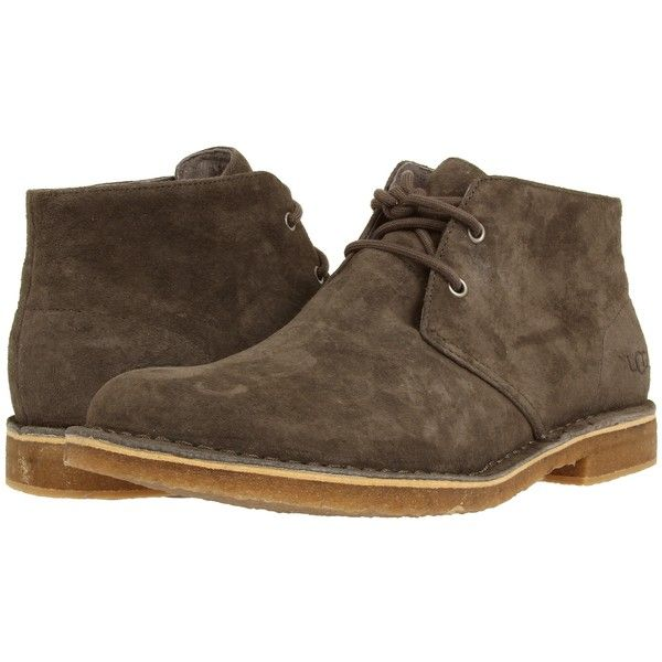 b2af473882b UGG Leighton (Charcoal Suede) Men's Dress Lace-up Boots ($100 ...