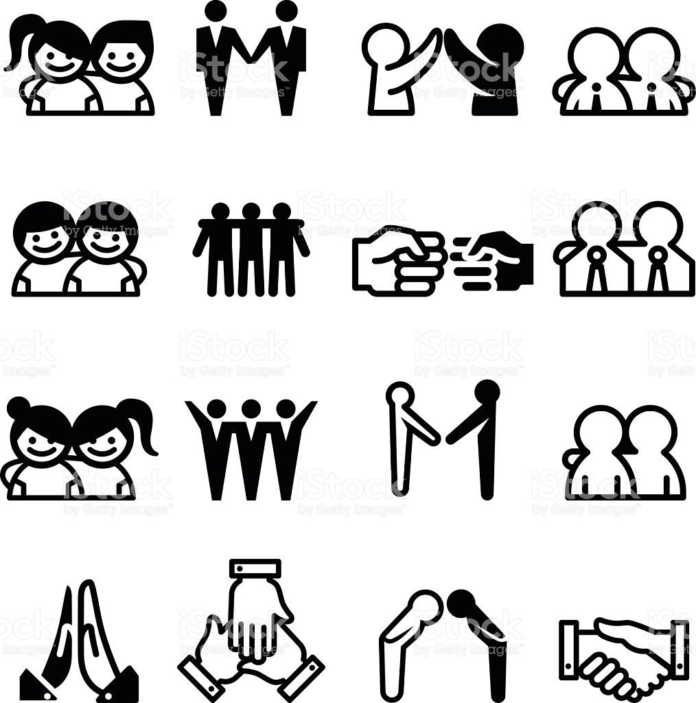 Friend Friendship Relationship Teammate Teamwork Icon set