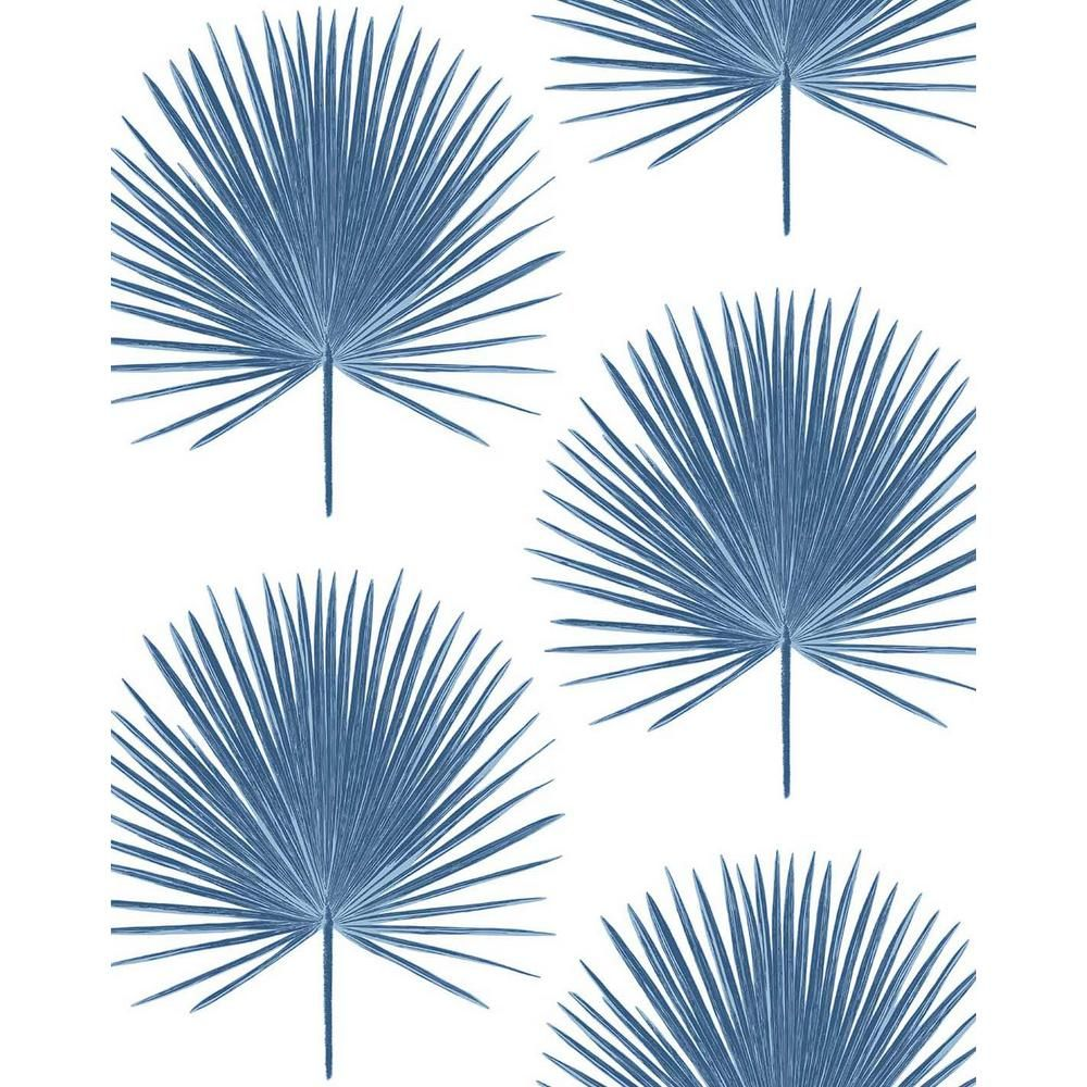 Nextwall Palmetto Palm Coastal Peel And Stick Wallpaper 30 75 Sq Ft Nw37502 The Home Depot In 2020 Peel And Stick Wallpaper Wallpaper Roll Wallpaper