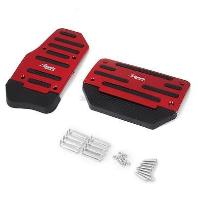 Brake Accelerator Sport NonSlip Pedal Pad Vehicle Automatic AT Auto Car Red