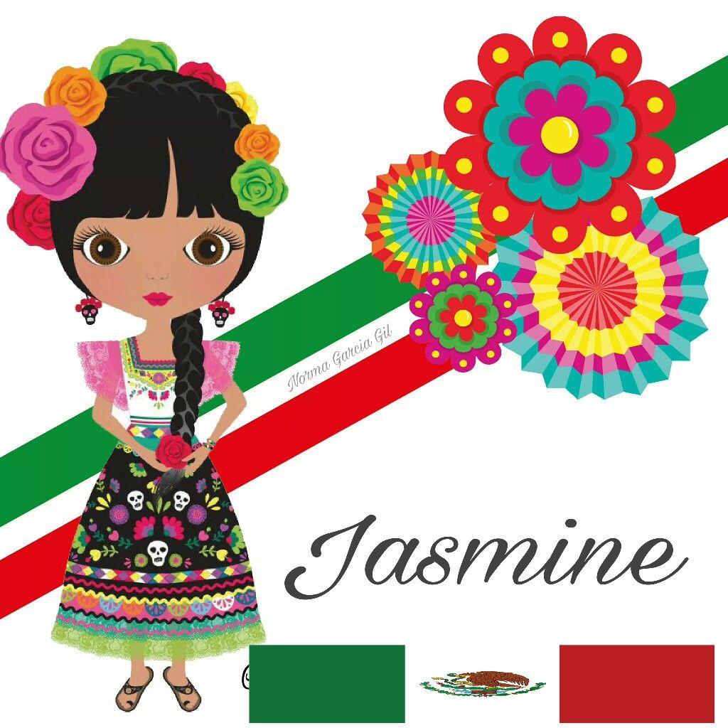 Nombre Patriotico Mexicano Jasmine 16 De Septiembre Caricaturas Mexicanas Munequitas Mexicanas Con Nombres Imagenes Patrias Con Nombres