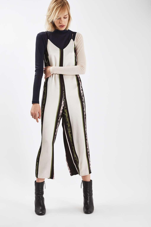 Satin Stripe Jumpsuit - Playsuits & Jumpsuits - Clothing - Topshop