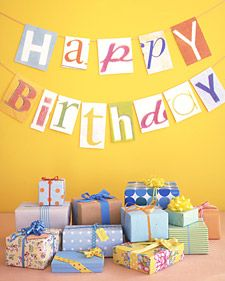 DIY Birthday Banner - Martha Stewart Crafts