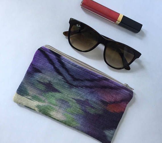 ebbcd819df9e NEW! Back to School Pencil Pouch, Purple, Green, Colorful Velvet ...
