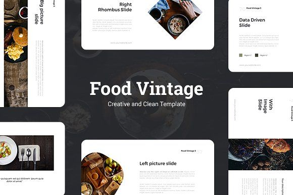 Food Vintage Presentation Template by Bazic Studio on - business presentation template
