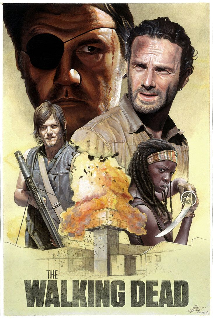 The Walking Dead Poster By Mattiasart On Deviantart The Walking Dead Poster Walking Dead Art The Walking Dead