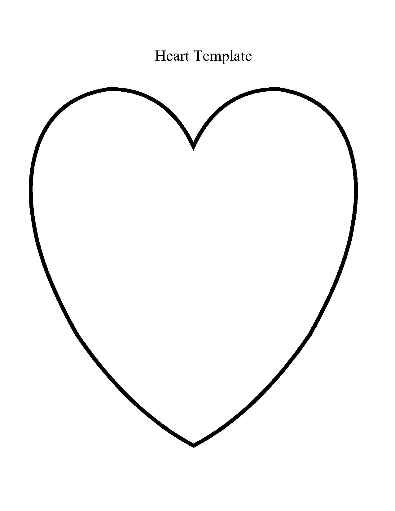 Large Heart Template | heart template - PDF - PDF | Templates ...