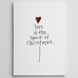 Photo of 'Love Is Spirit B.W.' Photographic Print on Wrapped Canvas