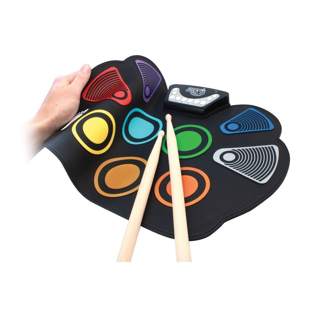 Rock And Roll It CodeDrum-Learn by Color Sticks+Pedals+Headphones+Music Book