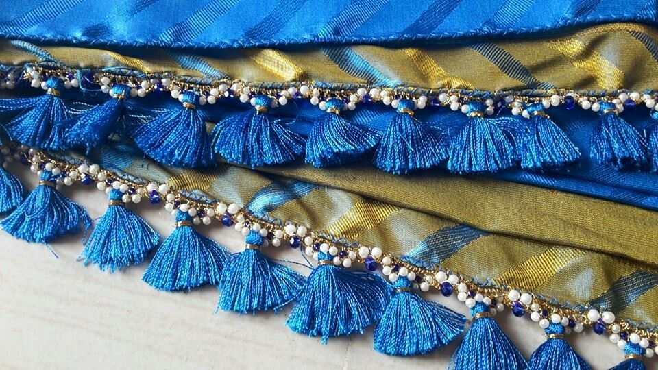 how to make saree blouse tassels