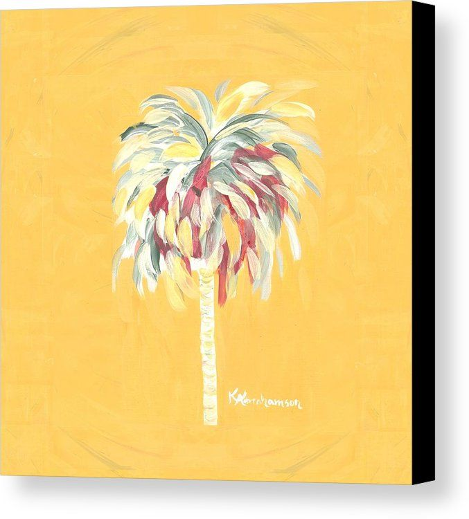 Bright and vibrant art. Brighten your walls with this yellow palm ...