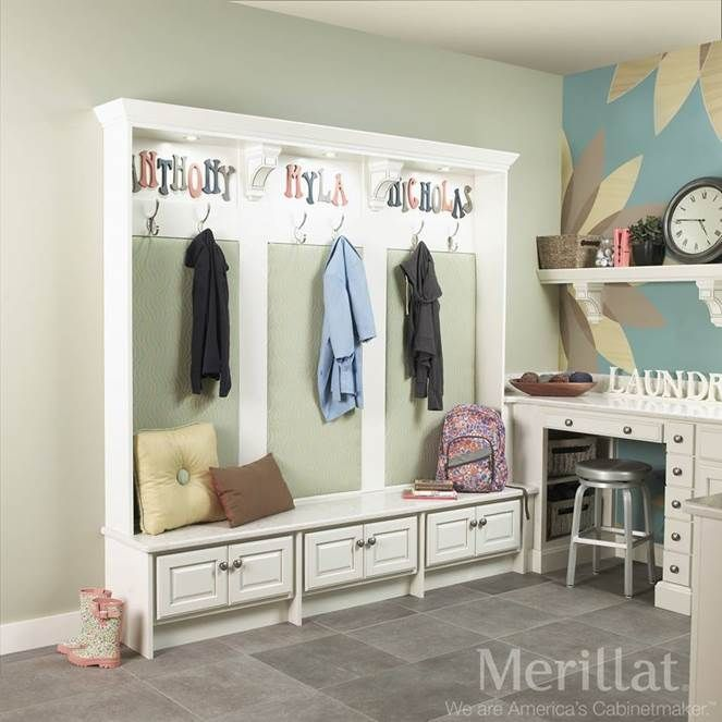 Merillat Classic® Spring Valley Maple Chiffon With Tuscan Glaze   Merillat®  Cabinetry. This Drop Zone Was Added To The Laundry Room To Provide Extra  Storage ...