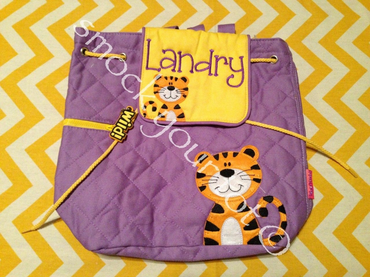 tiger backpack purple