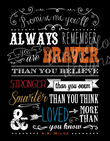 Promise Me Youll Always Remember Based On The Aa Milne Quote