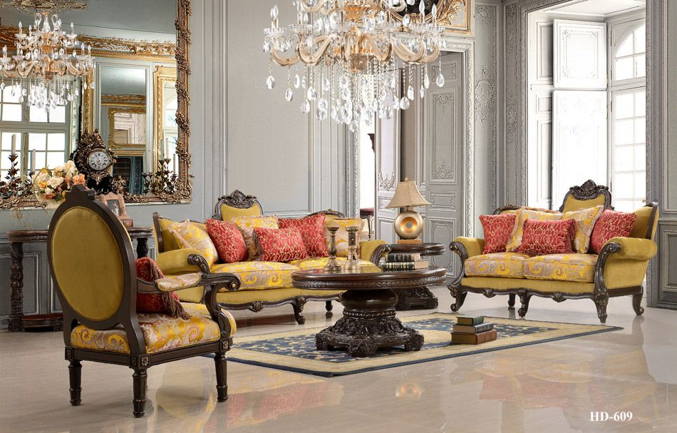 Best Amiens Royal Style Living Room Set Glam Living Room Decor 640 x 480