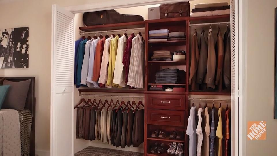 A Closet Organizer System Can Give You Extra Storage And Help You Better Manage Your Clothes And Belongings Home Depot Closet Closet System Wood Closet Systems