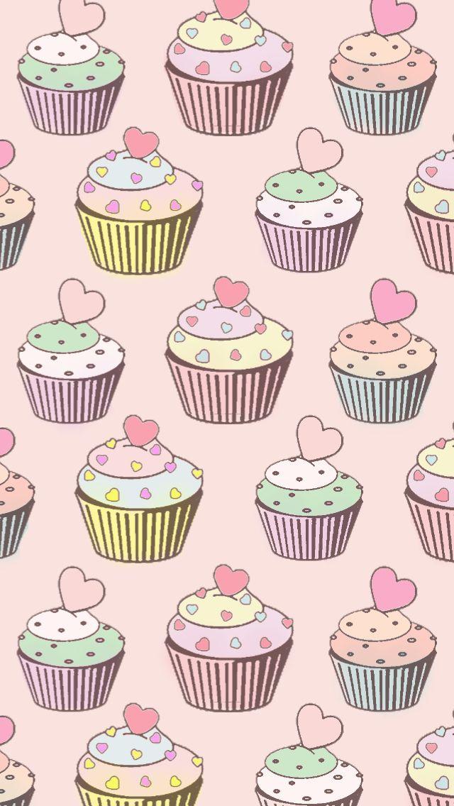 Kawaii Cupcake Cupcakes Wallpaper Cellphone Wallpaper Wallpaper Backgrounds