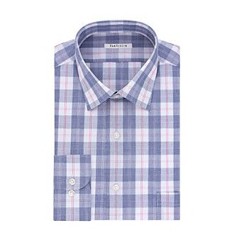 Van Heusen® Men's Multi Plaid Regular Fit Dress Shirt