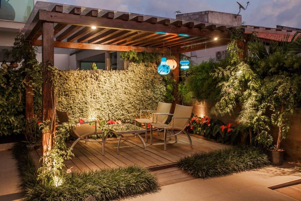 Projeto Balcones Y Terrazas Modernos De Heloisa Titan Arquitetura Moderno Ideias De Patio Quintal Decorado Jardim De Telhado