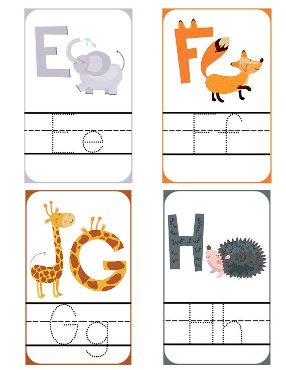 Alphabet Tracing Printable Flash Cards Handwriting Practice Etsy Printable Flash Cards Alphabet Cards Flashcards