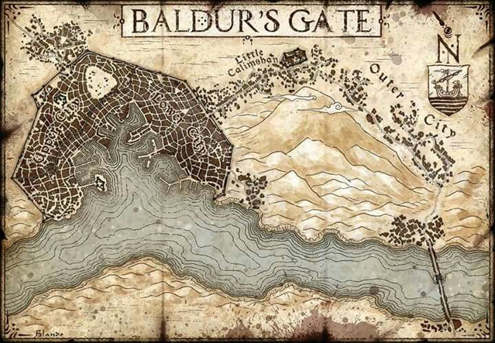Baldur\'s Gate Map Baldur's Gate map | Maps | Fantasy city map, Map, Dungeon maps