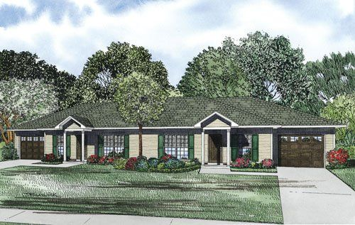 Two bedroom multi-family plan. | Tiny/Small Home Ideas ... on