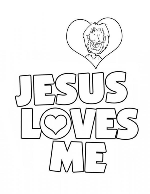 coloring pages love Jesus | Jesus Loves Me, : Jesus Love Me Sticker ...