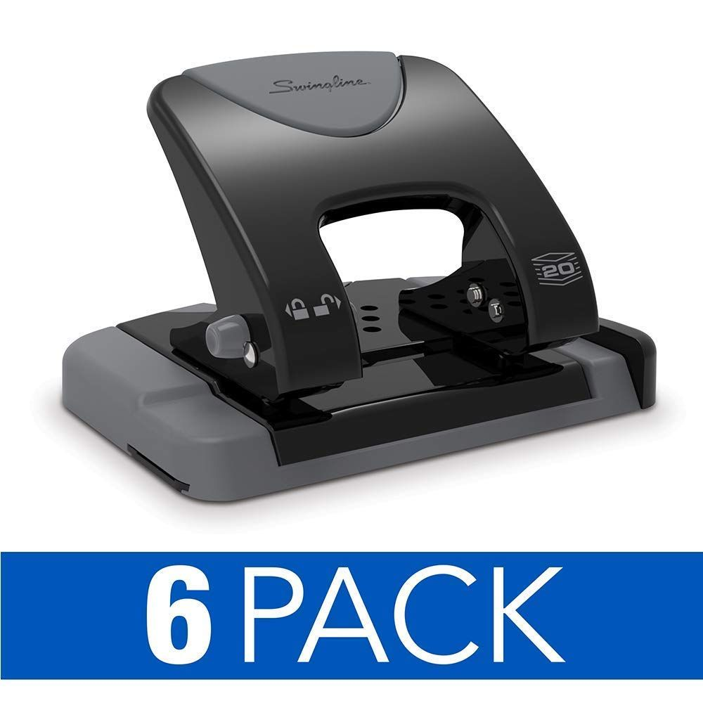 Swingline 2 Hole Punch Hole Puncher Smarttouch 20 Sheet Punch Capacity Low Force Black Gray 6 Pack 74135cs Price 2 Hole Punches Hole Puncher Hole Punch