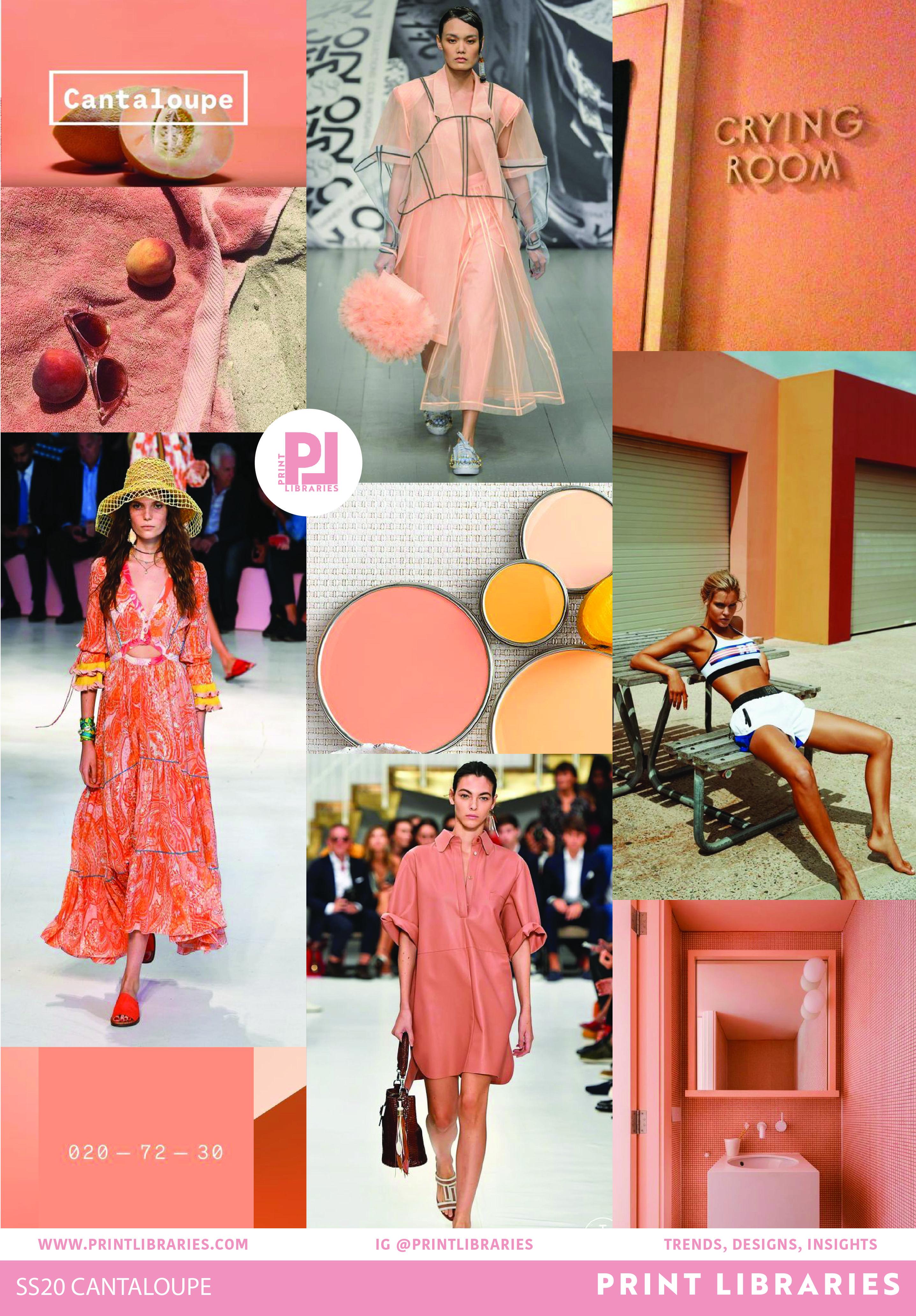 Cantaloupe 7 Trend Board  Color trends fashion, Fashion trend