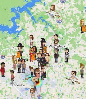 bitmoji snapchat map
