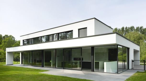 Abs bouwteam moderne strakke villa achtergevel huis for Moderne villa architectuur