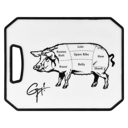 Guy Fieri 8x10 Inch Cutting Board With Pig Tattoo Graphics