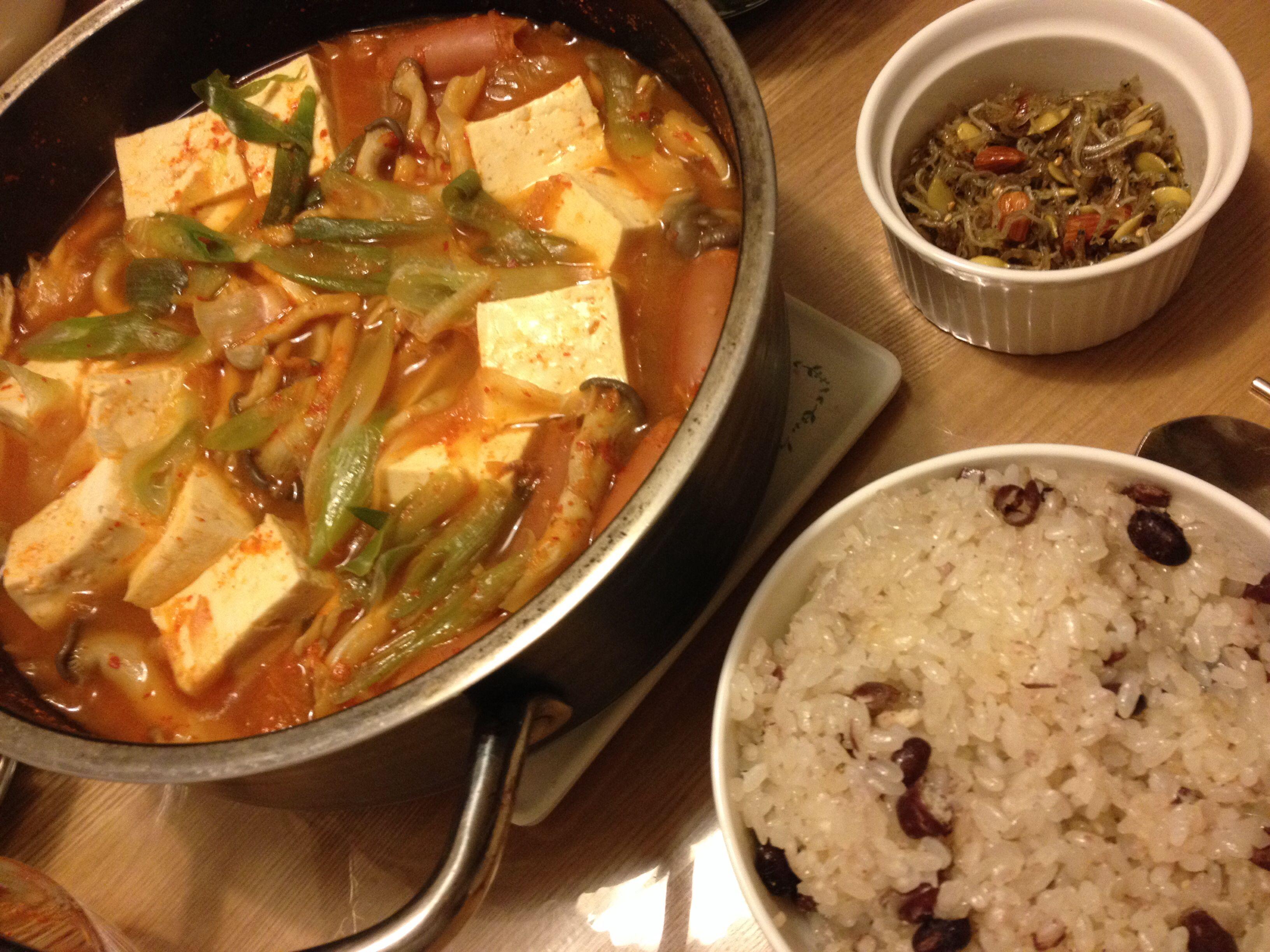 2014.3.17 저녁. 김치찌개