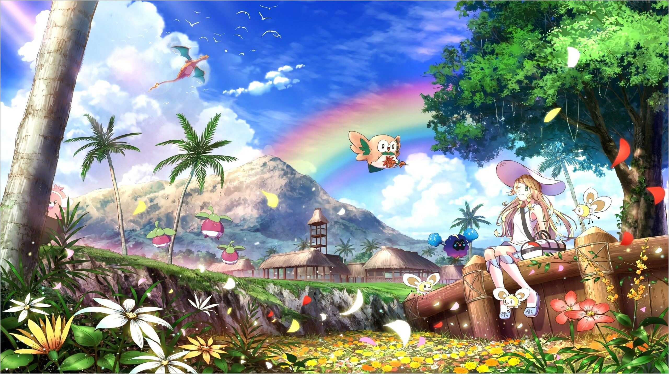 Pokemonsun And Moon 4k Wallpaper In 2020 Pokemon Sun Pokemon Anime Wallpaper