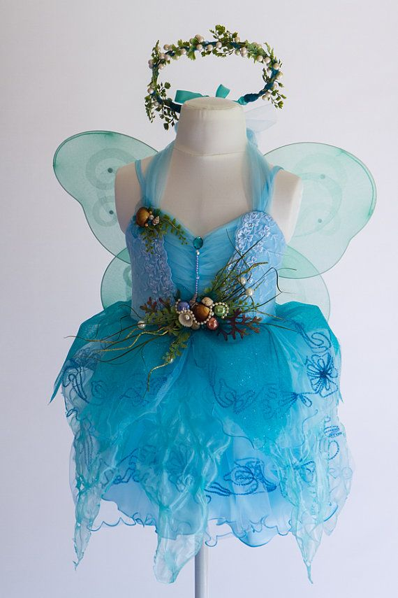 Child Fairy Costume Princess of the Sea by TinkersPennyBoutique & Child Fairy Costume- Princess of the Sea Mermaid Blue Fairy Costume ...