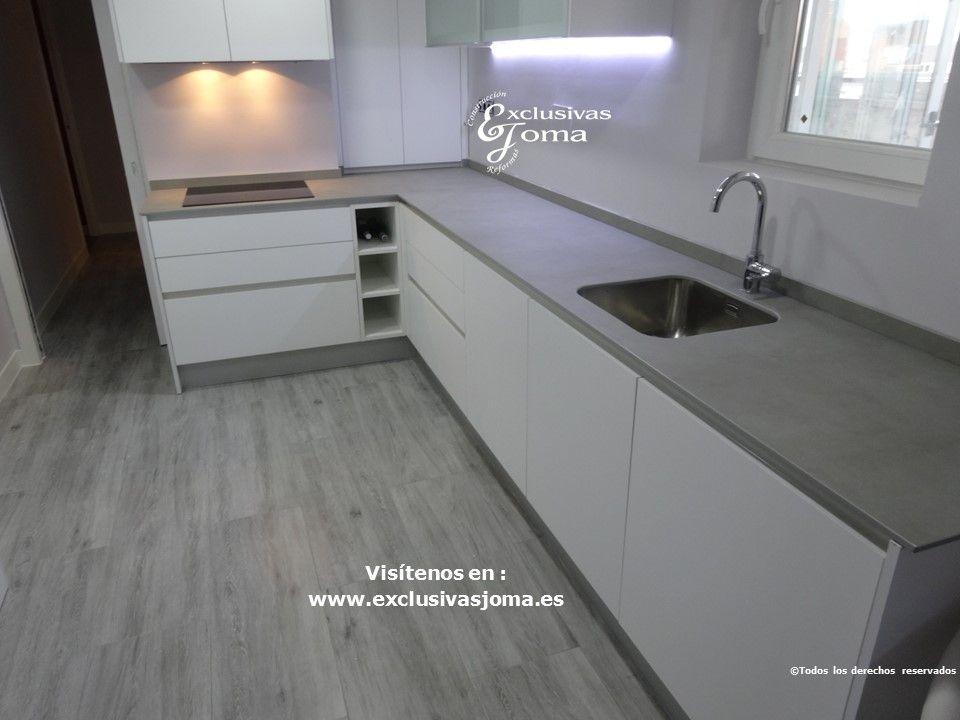 Reforma de cocina en zona de la estaci n en tres cantos - Cocina blanca mate ...